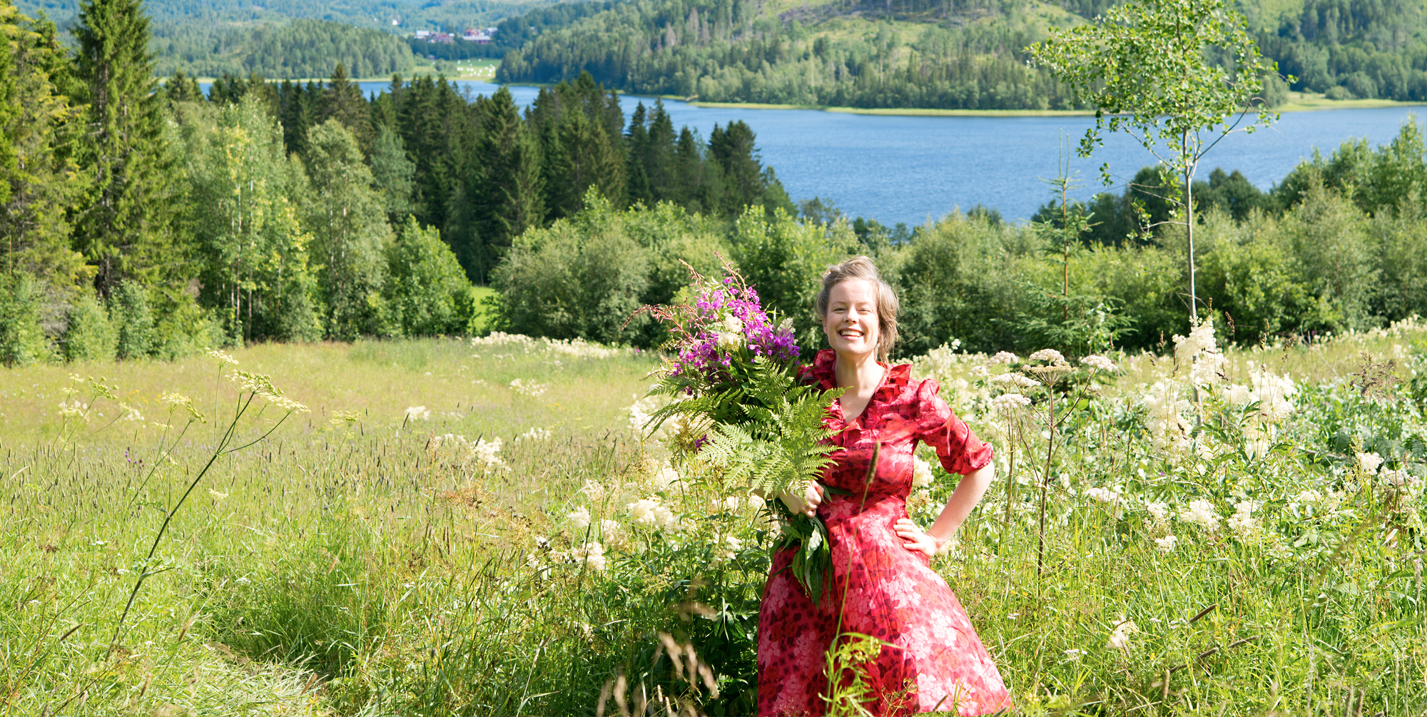 Åsa-Saga hemma på gården i Nordingrå